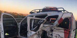 Un herido en un accidente de tráfico en la AP-7 a la altura de Rojales