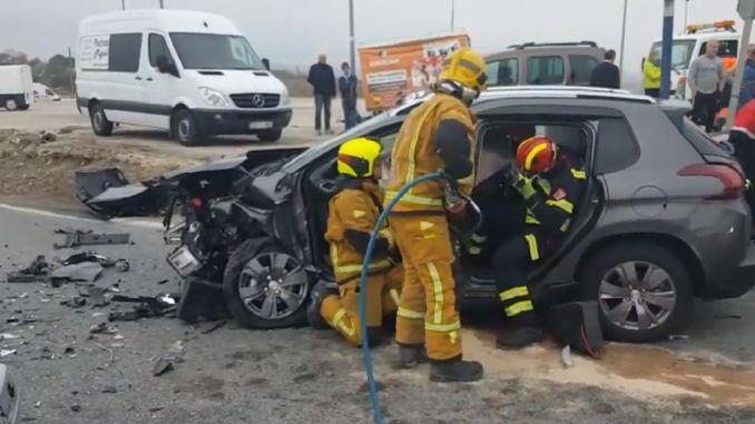 fire brigade crash san miguel