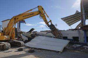 Comienzan las obras de demolición de la grada del Estadio Vicente García