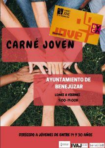 El Ayuntamiento de Benejúzar ya puede expedir el Carnet Jove a partir de los 14 años
