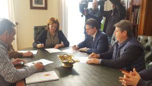 La Diputación invierte 350.000 euros en la mejora de las redes de agua de Almoradí, San Fulgencio y Redován
