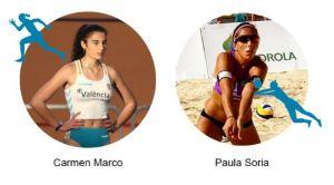 Las oriolanas Paula Soria y Carmen Marco, candidatas a convertirse en la mejor deportista de la provincia