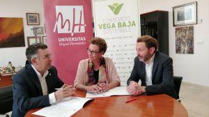 El Consorcio Vega Baja Sostenible firma un convenio de colaboración con la UMH