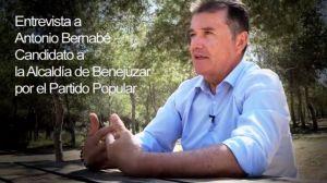 El lado más político de Antonio Bernabé, candidato del PP a la Alcaldía de Benejúzar