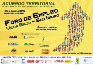"""San Isidro acogerá una nueva edición de los """"Foros de  Empleo"""" promovidos por el Acuerdo Territorial de la Vega Baja"""