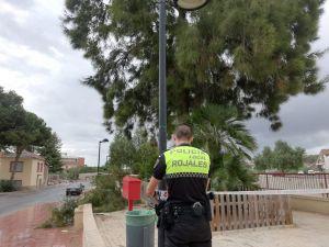 El viento y la lluvia provocan daños en Rojales