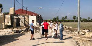 El eurodiputado Domènec Ruiz visita Benejúzar para trasladar a Europa los daños producidos por el temporal