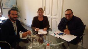 La diputada de Ciclo Hídrico se reúne con el alcalde de Callosa para tratar los problemas de alcantarillo del municipio