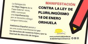 Hablamos Español asume la defensa jurídica de las Plataformas AMPAS Torrevieja y Vega Baja ante la imposición del valenciano