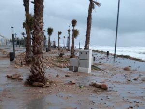 El temporal deja rachas de viento de hasta 108 km por hora en la costa