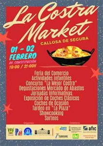 Callosa celebra La Costra Market el 1 y 2 de febrero para promocionar la gastronomía, el comercio y la hostelería de la ciudad