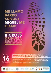 Orihuela acoge este domingo el II Cross Orihuela 'Ciudad del Poeta Miguel Hernández'