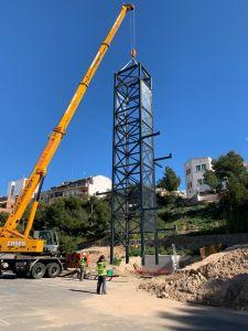 El ascensor que unirá el centro urbano con un parking municipal de 200 plazas  funcionará a partir de marzo