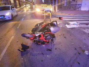 Herido un motorista de 44 años en un accidente de tráfico en Jacarilla