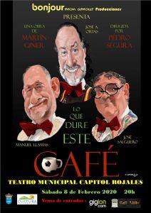 La comedia 'Lo que dure este café' llega mañana al Teatro Capitol de Rojales